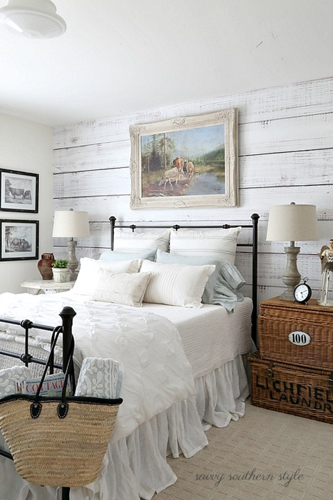 Beautiful Bedrooms to Dream In - Town & Country Living on Bedroom Farmhouse Decor  id=22339