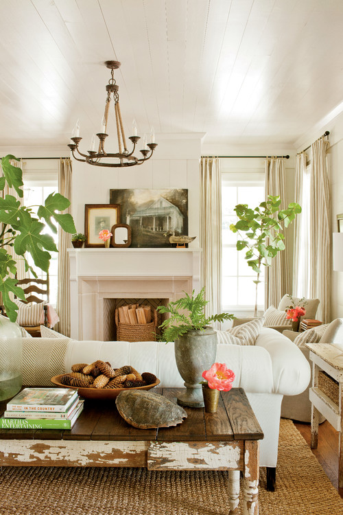 decorating with houseplants town country living on colors for farmhouse living room id=42160