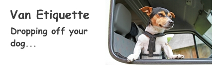 Van Etiquette - Dropping off your dog