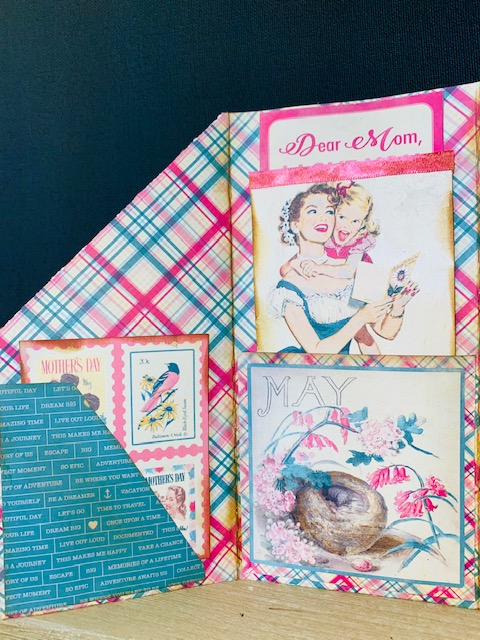Mother's Day Trifold Tuxedo Pocket Card.