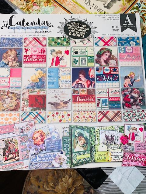 Mother's Day Trifold Tuxedo Pocket Card. #authentique Authentique Scrapbook Calendar Collection