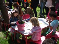 Young residents participate in arts and crafts