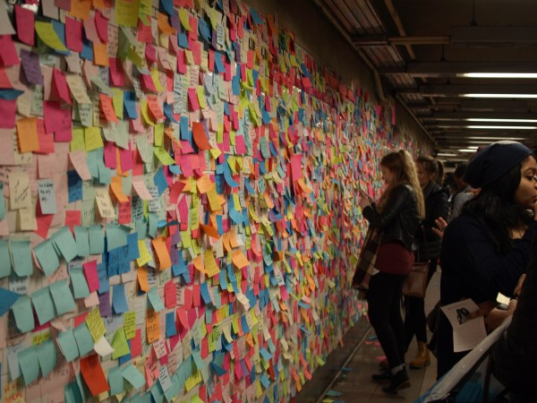 Subway therapy walls pop up on 14th St. | Town & Village