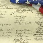 American Flag and Declaration of Independence