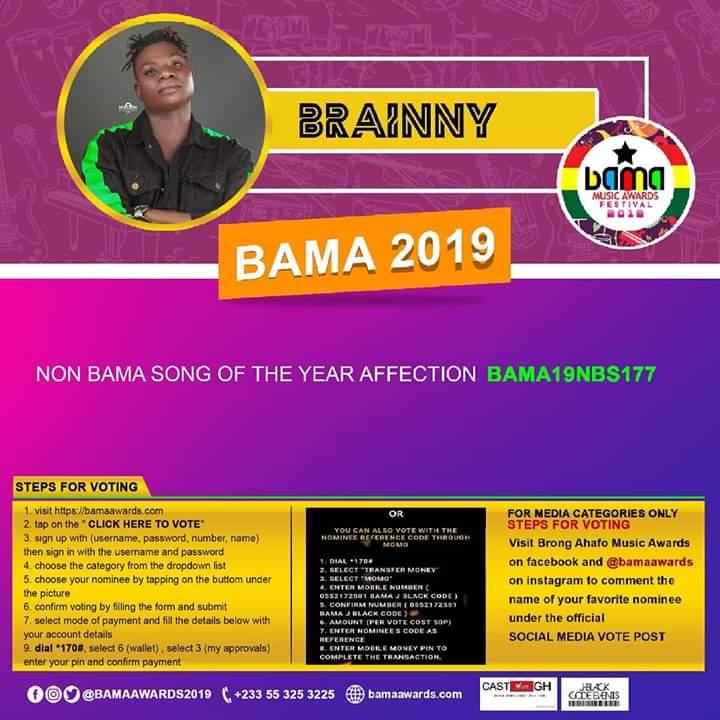 Brainny Grabs Nominations At BAMA Awards 2019