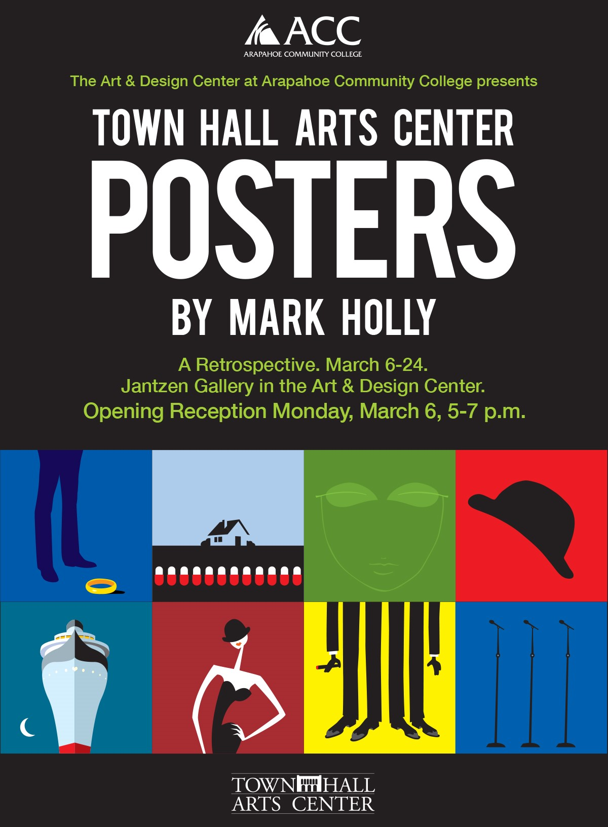 Mark Holly Art Show Poster Town Hall Arts Center
