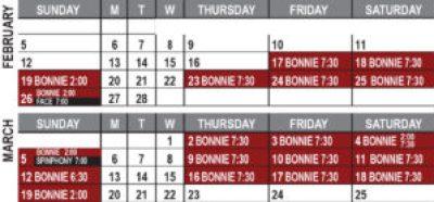 Bonnie & Clyde Calendar