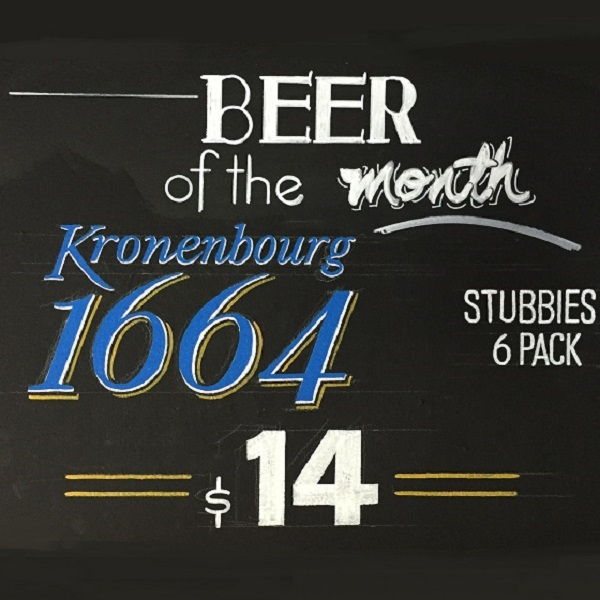 Beer of the Month bottle shop special