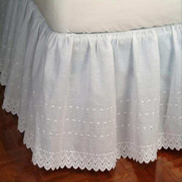 Victorian Eyelet 14 Quot Drop White Dust Ruffle Townhouse Linens