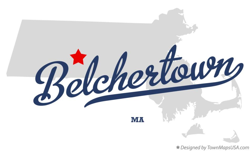 Map of Belchertown Massachusetts MA