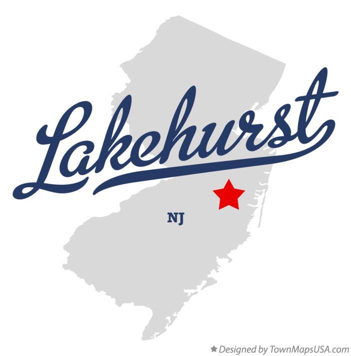 Map of Lakehurst New Jersey NJ