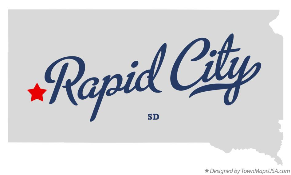 Map of Rapid City South Dakota SD