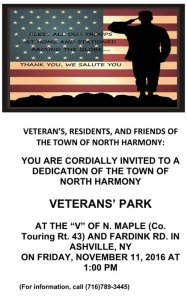 Veterans' Park Dedication