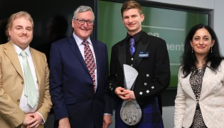 Accepting award with Fergus Ewing