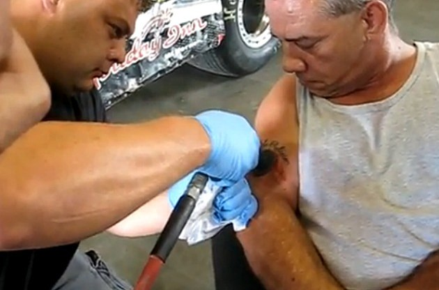 MUST SEE: Extreme Redneck Tattoo Removal [VIDEO][NSFW]