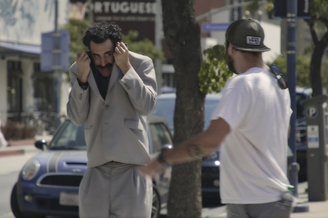 Sacha Baron Cohen Shares Footage Of Escape After 'Borat 2' Prank