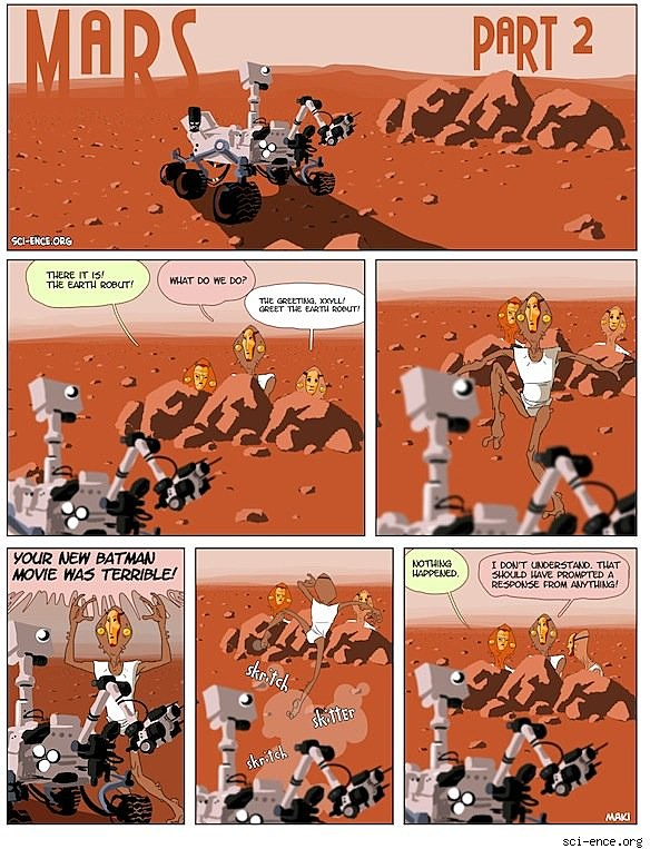 Webcomic Artists Pay Tribute to the Mars Curiosity Rover