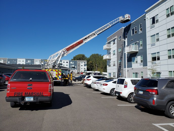 Rochester Apartment Fire Quickly Contained by Sprinkler System   krocnews.com (image)