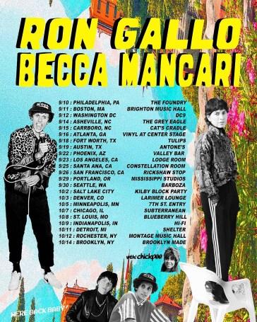 Becca Mancari & Ron Gallo touring together this fall