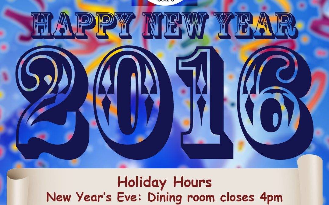 New Year's Eve and Day Hours