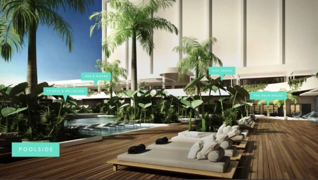 The Ville Resort-Casino infinity poolside impression in Townsville North Queensland