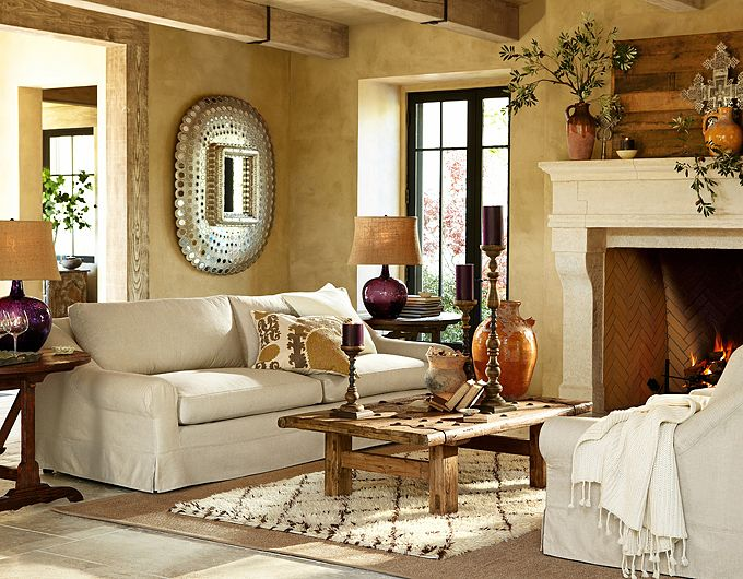 living room class at pottery barn plus