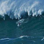 Blind Derek Rabelo Surfs Nazare