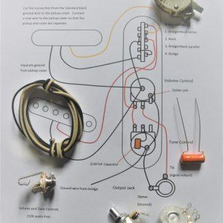 Wiring kit for tele guitars - 4 way