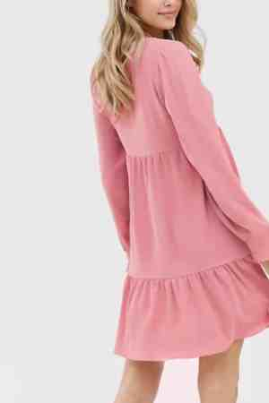 Oversized μπλουζοφόρεμα ροζ
