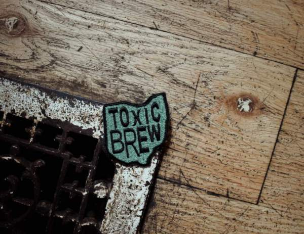 Toxic Brew Patch Black on Green