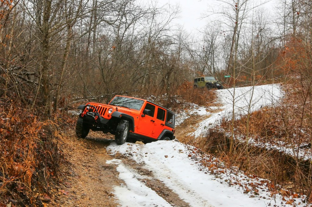 The longer wheel base Jeep JK took a little bit to get used to.