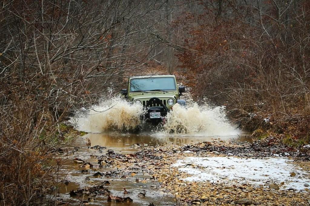 Matt's Jeep getting wet at SMORR