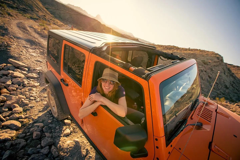 Toxic Crush Jeep Wrangler JK at Big Bend National Park