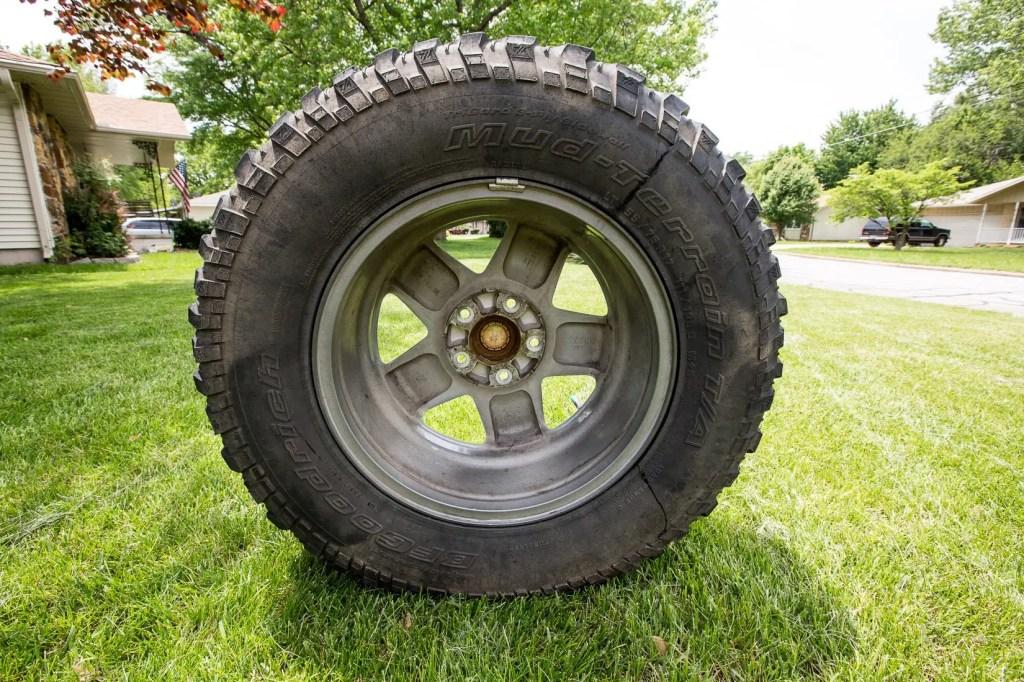 Dirty Jeep wheel