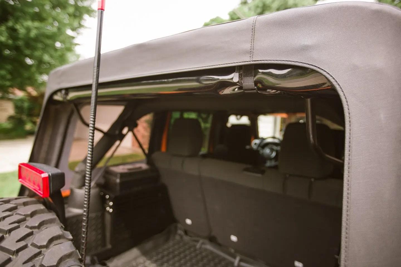 American Outlaw Rear Window Jeep Straps