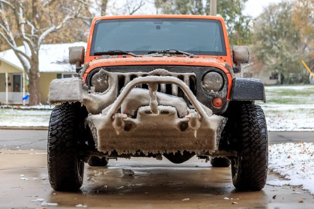 Icy Jeep Wrangler