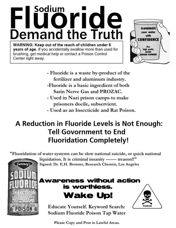 Fluoride is a weapon of war against humanity toxicnow