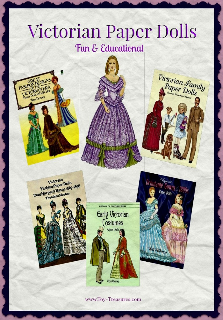 Victorian Paper Dolls are Fun & Educational!