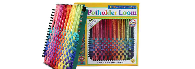 Potholder Loom with Loops