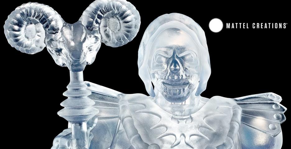 Mattel Creations Masters Of The Universe MOTU Art Of Engineering Clear Skeletor