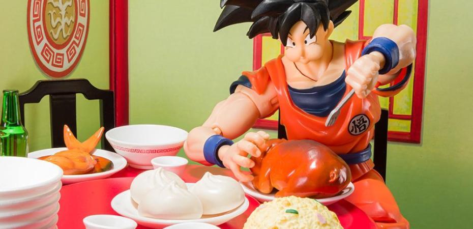 Bandai Presents Dragon Ball Z S H Figuarts Goku Eating Scene Set