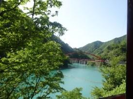 Lake Unazuki(view form train)2
