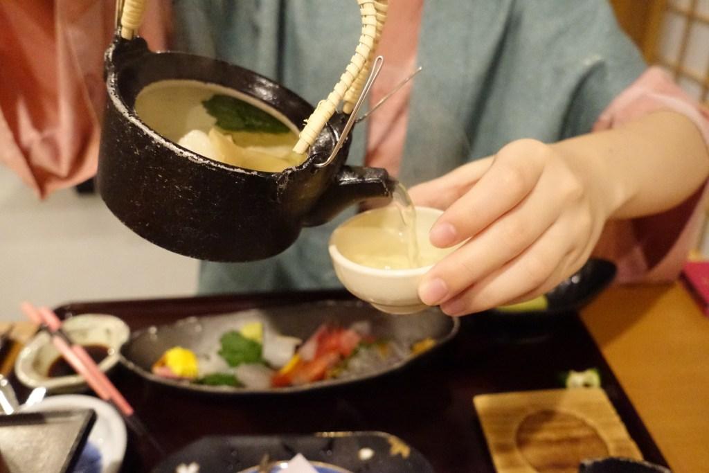夕食(土瓶蒸し)