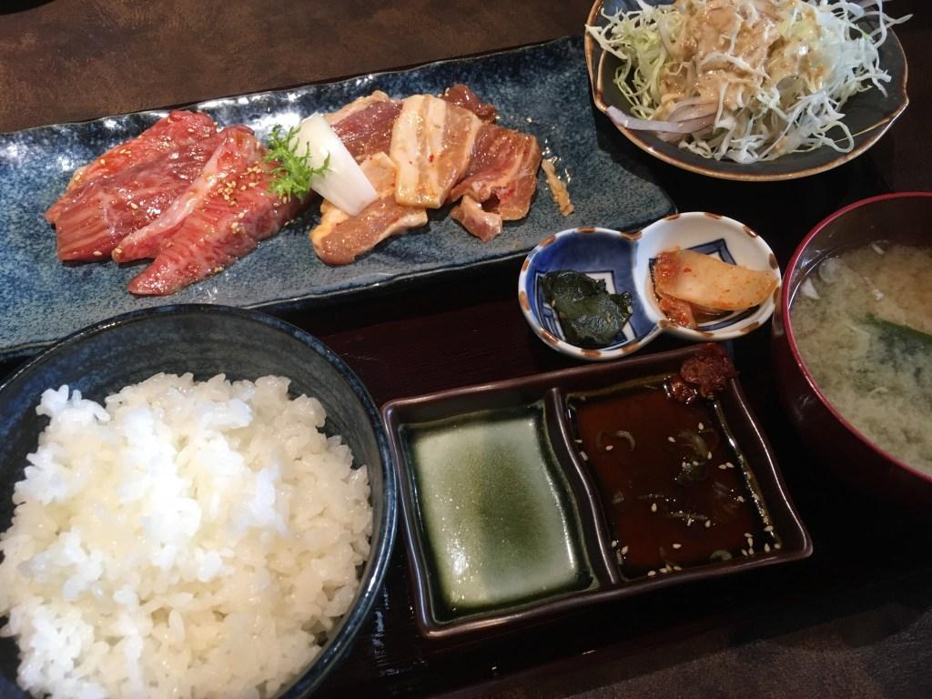 将軍カルビ定食(税込1,300円)