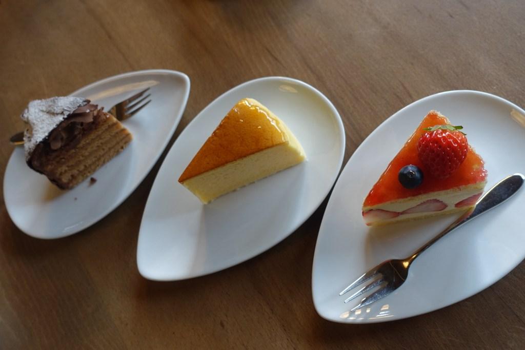 今回いただいたケーキ3種