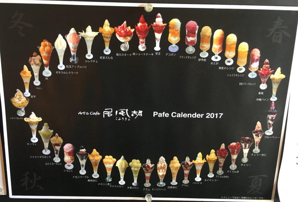 【参考】2017年のパフェカレンダー