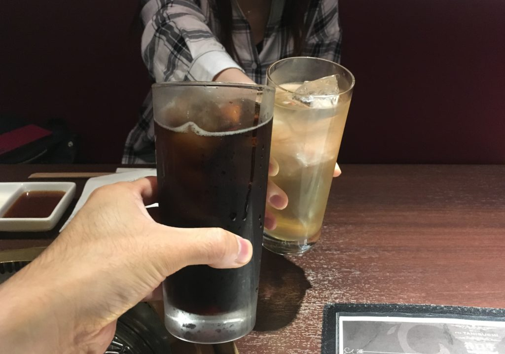 紀州産 南高梅酒とコーラで乾杯