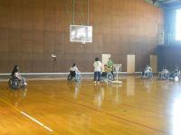 バスケ用車椅子の操作
