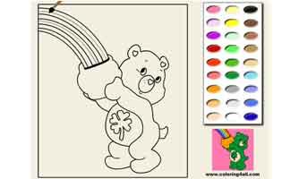 Заботливые мишки: Раскраски для малышей