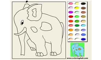 Слон: Раскраски для малышей